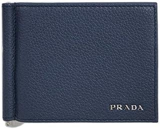 【アウトレット品】 (プラダ) PRADA 財布 メンズ 二つ折り マネークリップ 札入れ ヴィテッロ グレイン BALTICO カーフネイビー 2MN077 [並行輸入品]