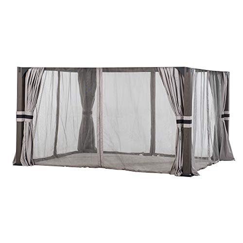 Sunjoy A111504700 Original Replacement Mosquito Netting for Shadow Creek Gazebo (10X12 Ft) L-GZ1140PST Sold at BigLots, Light Grey
