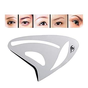 Luxsea 1pc Multifunction PP Eyebrow Stencil Eyeliner Eyeshadow Makeup Reusable Template Card Face Contour Model Card Grooming DIY Tools