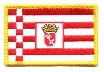 Flaggen Aufnäher Patch Bremen Fahne Flagge NEU