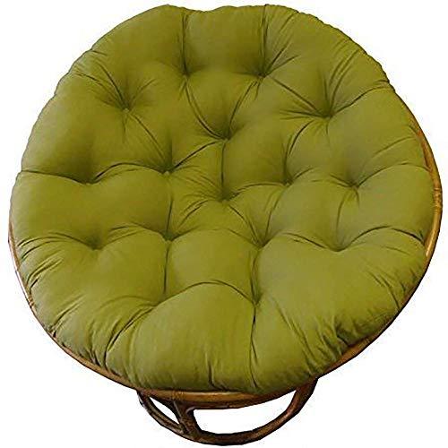 LJYY Cojín de algodón para Silla, Columpio para Colgar, cojín Grueso y cómodo de Repuesto, Esponjoso sin Silla, Verde 105x105cm (41x41 Pulgadas)