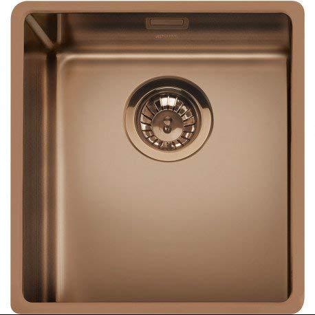 SMEG VSTR34CUX Mira - Fregadero de cocina colgante, acero inoxidable, cobre