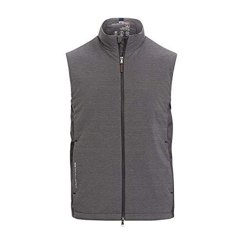 RLX Golf Ralph Lauren Mens Water Repellent Sports Vest (Large, Deep Grey)