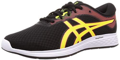 Asics Patriot 11, Zapatillas de Running para Hombre, Negro (Black/Safety Yellow 003), 42.5 EU
