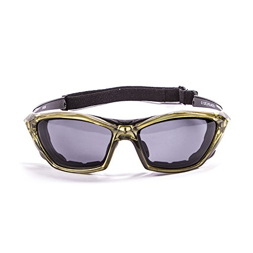 Ocean Sunglasses - lake garda - lunettes de soleil polarisées - Monture : Jaune - Verres : Fumée (13000.5)