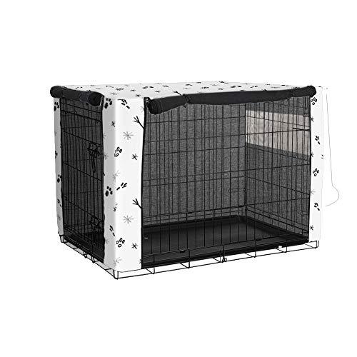 Fushida - Funda de doble puerta para perro, ventilada para la mayoría de cajas de alambre, protección interior y exterior, fácil de poner y quitar