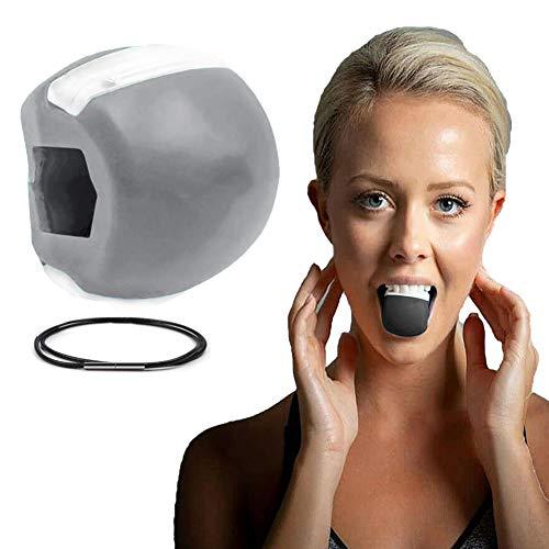Ejercitador de mandíbula, Tóner Facial Tonificador Facial Ejercitador Equipo Tonificador De Cuello Herramienta De Belleza Facial Ejercicio de la Línea de la Mandíbula (Gris)