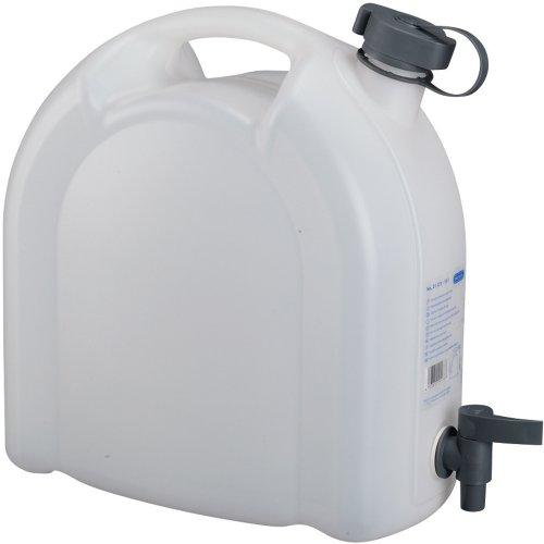 Pressol Kanister mit Hahn und Griff, 10 L, stapelbar, 32x16,5cm, für Trinkwasser: 10L Wasser Kanister mit Hahn Wasserbehölter Trinkwasser Tank Kunststoff Kanister
