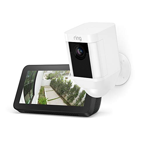 【$139 OFF】Ring Spotlight Cam Battery (White) with Echo Show 5 (Ring智能聚光灯 + Echo Show)