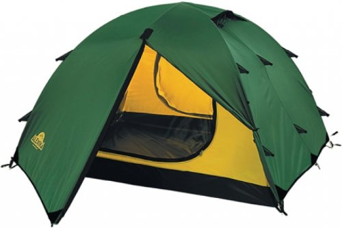 ALEXIKA Zelt Rondo 2, grün (außen)/gelb (innen), 210x340x100 (BxLxH), 9123.2101