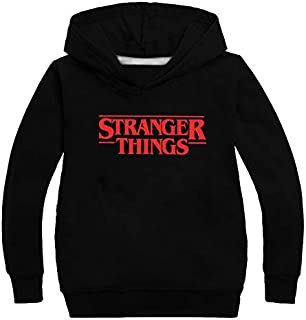Fashion Kids Boys Girls Stranger Things Sweatshirt Pullovers Hoodies Hooded Sportswear Surprise Gift