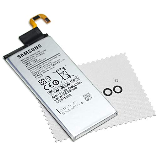 Batería para Original Samsung EB-BG925ABE LiIon para Samsung Galaxy S6 Edge (G925F) con mungoo pantalla paño de limpieza