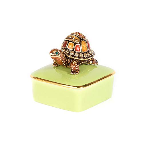 Jay Strongwater - Porcelain Box - Caden Turtle