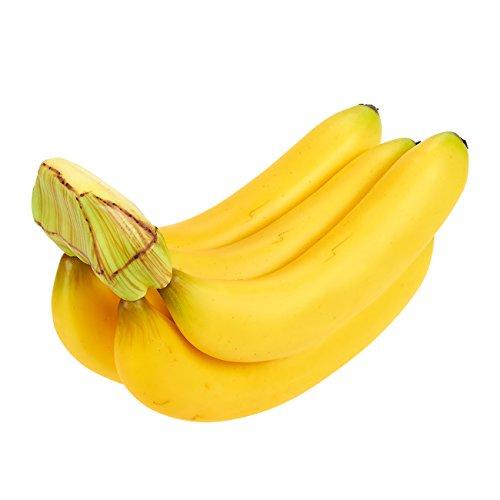 Juvale Falso Artificial Fruta Plátano–Frutas Bananas de plástico para Still Life Paintings, Tienda decoración, Cocina decoración, Amarillo, 7x 5,5x 3,5cm