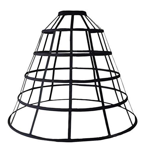 planuuik Womens Hollow Out Caged 5-Hoop Bustle viktorianischen Petticoat Rock Hochzeit Brautkleid Cosplay Packtasche Krinoline Unterrock Slip
