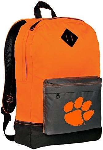 Clemson Tigers Backpack CLASSIC STYLE Clemson University Backpacks High Visibility HI VIS Orange product image