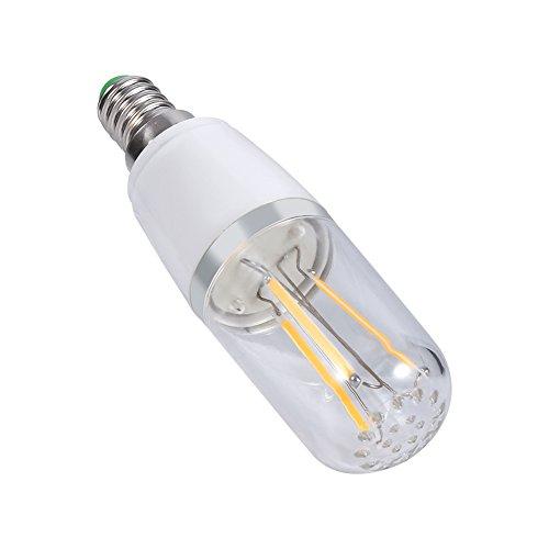 Omabeta Bombilla para candelabro E14 Lámpara de luz para candelabro LED Bombilla de filamento Estilo Retro Hogar Bombilla de filamento pequeña Duradera para candelabro Luz de Techo(4W-Blanco frío)