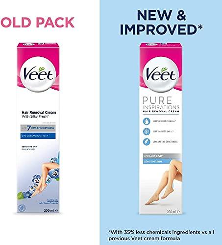 Veet Sensitive Skin Hair Removal Cream Aloe Vera &...