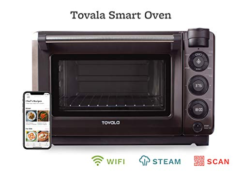 Tovala Gen 2 Smart Steam Oven | Countertop WiFi Oven | 5 Mode Programmable Oven | Toast, Steam, Bake, Broil and Reheat | Black & Stainless Steel Convection Oven