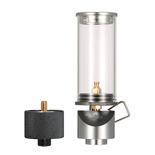 TRF Butane Gas Light, Mini Lanterne Flamme avec Adaptateur - Flamme réglable légère Facile à Transporter, ne Contient Pas de réservoir de gaz - pour Le Camping de Pique-Nique Survivre