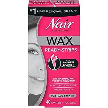 Nair Hair Remover Wax Ready-Strips for Face & Bikini 40 CT
