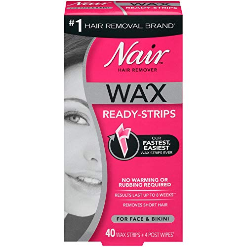 Nair Hair Remover Wax ReadyStrips for Face amp Bikini 40 CT