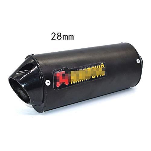 28 mm 32 mm 38 mm 51 mm de Escape de la Motocicleta silenciador del Tubo por un 125cc 150cc 160cc Suciedad Bici del hoyo (Color : Black 28mm)
