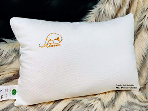 JSY Latex Shredded Natural Latex Pillow (Made in Thailand), Best Breathable Kool-Flow Latex Foam Sleeping Bed Pillow, Adjustable Loft with Zip-able Cover - Extra Filling (Shredded Latex (Adult))