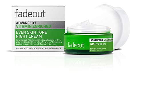 Fade Out Advanced+ Vitamin Enriched Even Skin Tone Night Cream - Brightening Cream With Niacinamide, Hyaluronic Acid, Lactic Acid, and Rosehip Seed Oil, 50ml
