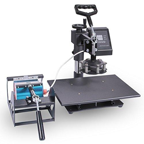 Lartuer Transferpresse Tassenpresse Textilpresse T Shirtpresse Heat Press Machine 5 in 1 Mulitifunktional Sublimation 360-Grad-Drehung (5IN1) - 7