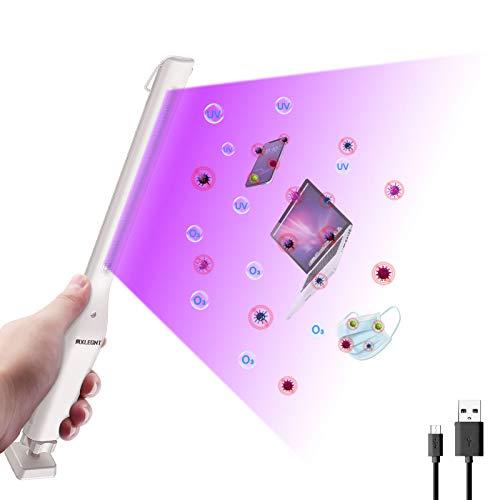 Sterilizzatore Luce UV Lampada di Disinfezione Portatile Purificatore d'aria Manuale LED Ultravioletta Antibatterica Bacchetta (Bianca, UVC+Ozono)