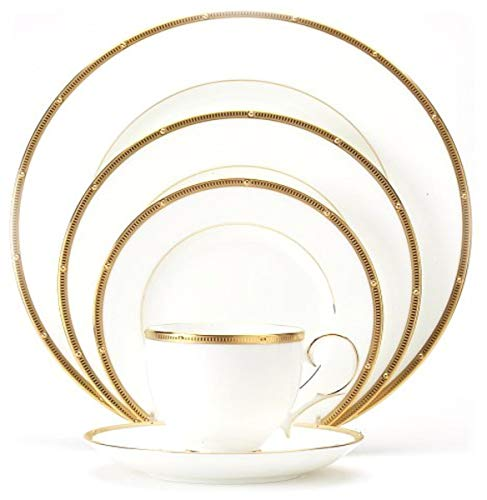 Noritake Rochelle Gold 20-Piece Dinnerware Place Setting, Service for 4