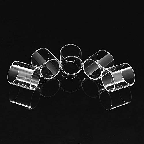 Qingtian-ceg 5 Teile/los Glas Ersatz Klar Pyrex Glasrohr for Micro TFV4 3,5 ml (Frei von Tabak und Nikotin)
