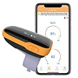 Wellue WearO2 Wearable Health Monitor Pulse Meter Bluetooth with Free APP, Continuously Tracks SP-O2 & Heart Rate with Notification