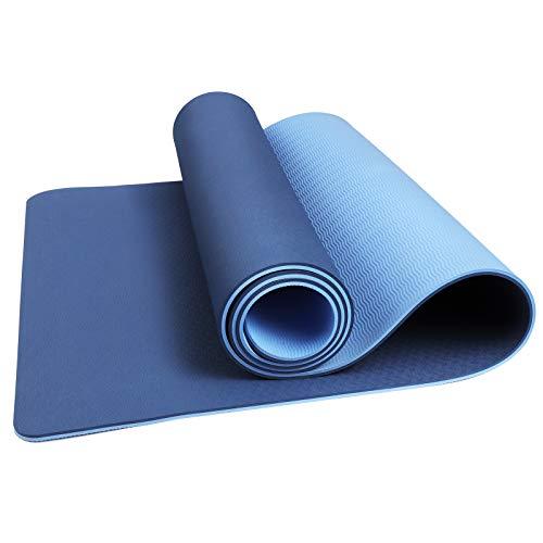 CSFLY Yogamatte Rutschfest Wasserdichte Gymnastikmatte Sportmatte Fitnessmatte, Qualität TPE Yoga Matte Turnmatte Trainingsmatte Übungsmatte für Yoga Pilates Fitness Gymnastik 183*61*0.6cm