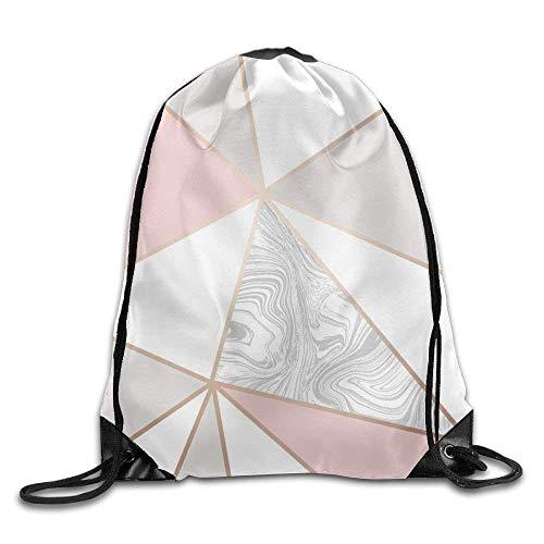 Yuanmeiju Portable Folding Sport Backpack Geometric Pink Grey Pink White Grey Marble