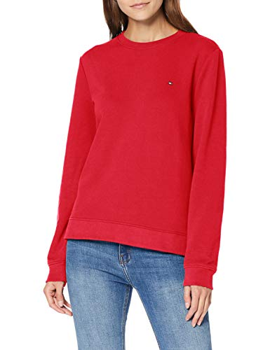 Tommy Hilfiger Damen Crew Neck Sweatshirt Pullover, Rosa (Ruby Jewel), X-Large