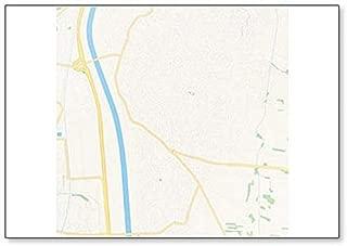 Lustenau, Austria Map Classic Fridge Magnet