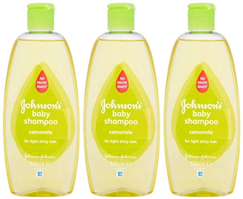 Johnson's Baby Shampoo No More Tears with Chamomile for Light Shiny Hair 10.1 Ounces / 300 Ml (Pack of 3)