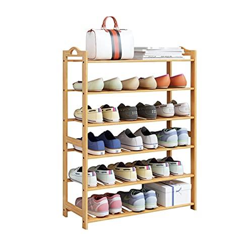Estante de Zapatos 3/4/5/6 Niveles Zapato de Zapatos Bambú Zapato Almacenamiento Estante Organizador para Entrada Casa Sala de Estar Balcón Pasillo Organizador de Zapatos (tamaño : 108cm(6-Tiers))