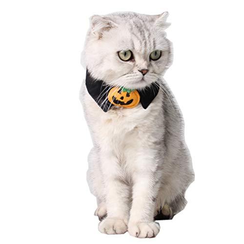 POPETPOP Collar de Perro de Halloween-Calabaza Gato Gato Disfraz...