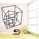 zxddzl Diseño Cuadrado DIY Etiqueta de Vinilo Impermeable Wallpaper Home Decor para la Sala de Estar Dormitorio Auto-Adhesivo Pegatinas de Pared Muralescm 83x74cm