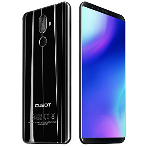CUBOT X18 Plus Smartphone, 2018 4G LTE Smartphone Android Dual SIM Smartphone senza contratto, 5.99 pollici IPS Full HD Touch Display, 64 GB di memoria RAM 4 GB, 20 MP Plus fotocamera 2 MP, Nero
