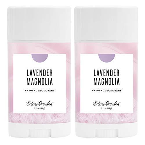 Edens Garden Lavender Magnolia Natural Deodorant, Aluminum & Baking Soda Free (For Normal & Sensitive Skin), Made With Essential Oils, Vegan, For Men & Women, 2.25 oz Value Pack