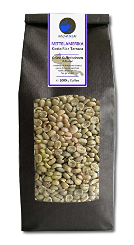Rohkaffee - Grüner Hochland Kaffee Costa Rica Tarrazu (grüne Kaffeebohnen 1000g)