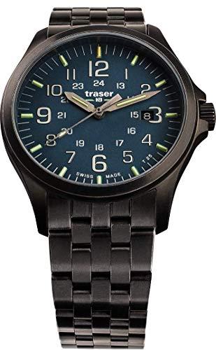 Traser H3 P67 Officer Pro Gunmetal Blue Tactical Watch Militär Stahl Armbanduhr