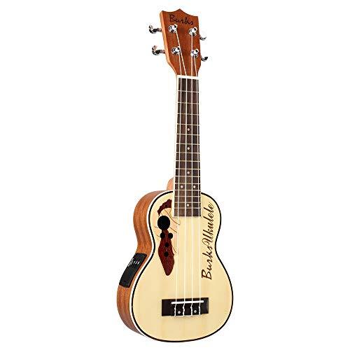 Ukeleles 21 Pulgadas de Madera de Abeto Ukulele Hawaii Guitarra eléctrica Ukulele...