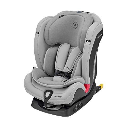 Maxi-Cosi Titan Plus, silla de coche para bebés y niños, cómoda silla de auto, grupo 1/2/3, convertible, con ISOFIX, de 9 meses a 12 años y de 9 a 36kg, color gris (Authentic Grey)