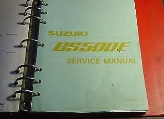 1989 SUZUKI MOTORCYCLE GS500E SERVICE MANUAL BINDER P/N 99500-34060-03E (888)
