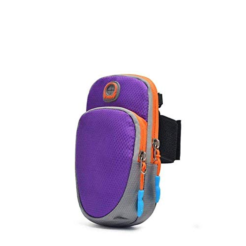 HGJINFANF Exquisita mano de obra antideslizante bolsa de brazo nuevo Running Sports teléfono móvil brazo bolsa hombres y mujeres multifuncional hombro mensajero Fitness durable (color: E)